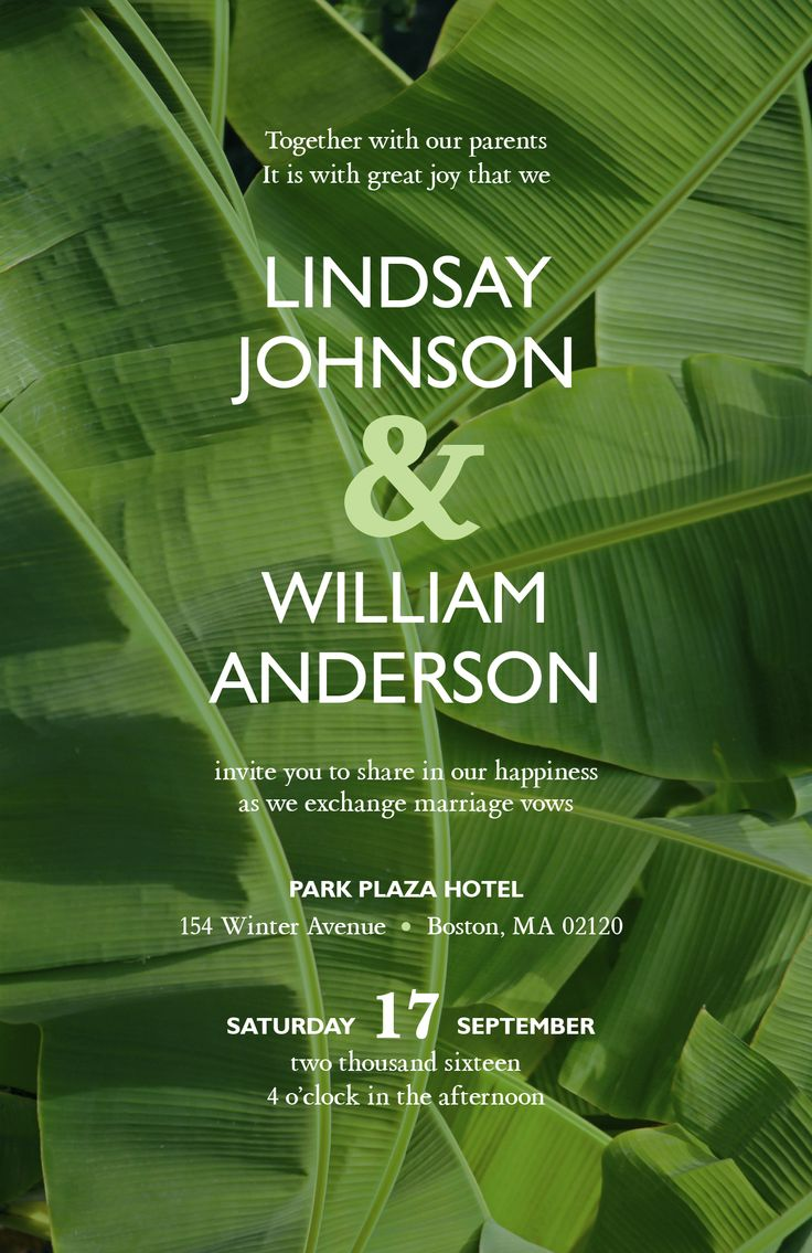 24 best tropical wedding images on pinterest tropical weddings palm leaves wedding invitation vistaprint monicamarmolfo Gallery