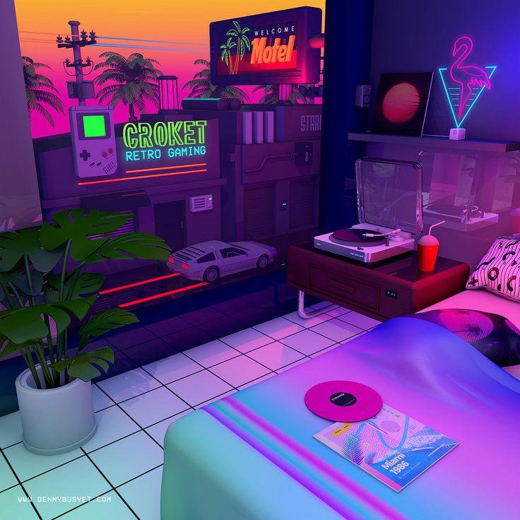 Nostalgia 80 S Neon Aesthetic Bedroom Novocom Top