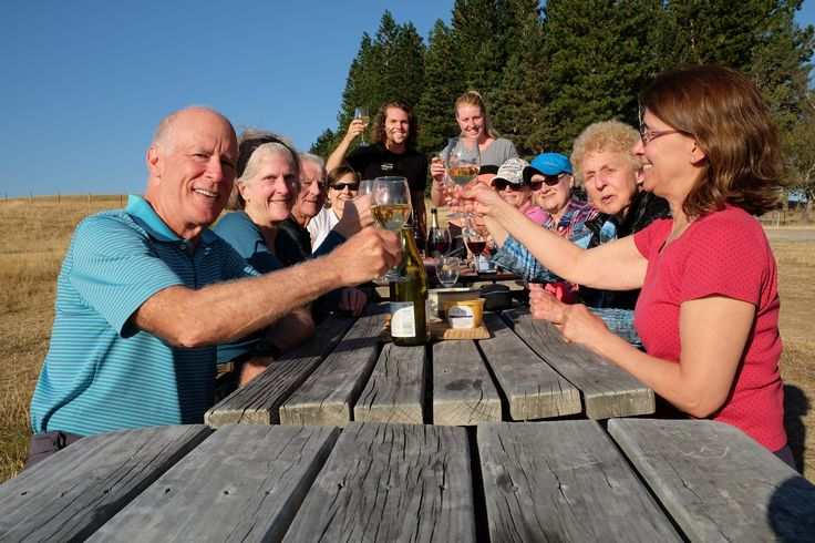 Carol Lyvers send us this one, of their group enjoying some wine with their outdoor dinner at Braemar Station, on her 'Kiwi' trip in February.#adventuretravel#activeadventures#newzealand#hiking