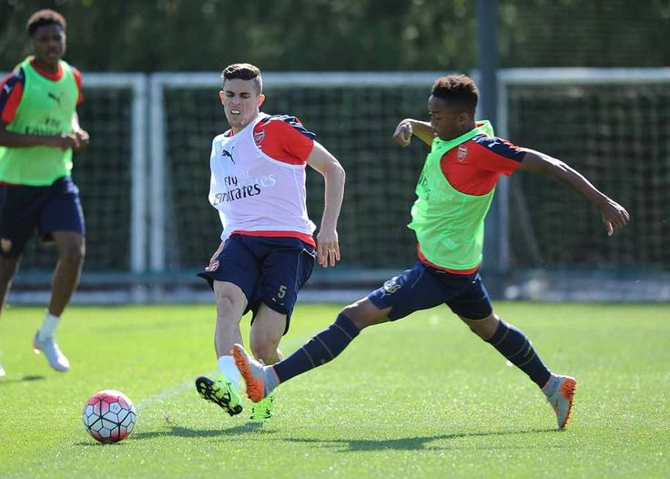 Squad train at London Colney 7.7.15.
