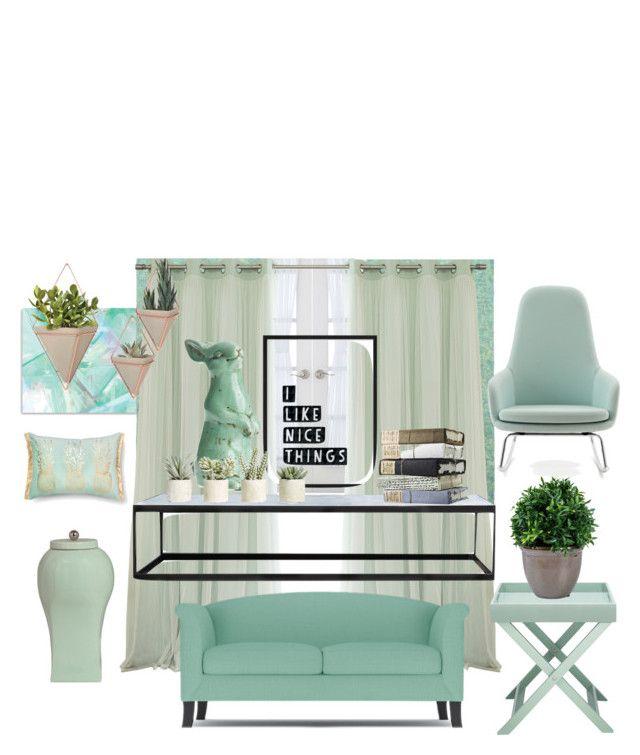 """Blue"" by ginewwra on Polyvore featuring interior, interiors, interior design, dom, home decor, interior decorating, Liz Claiborne, XVL, Allstate Floral i Normann Copenhagen"