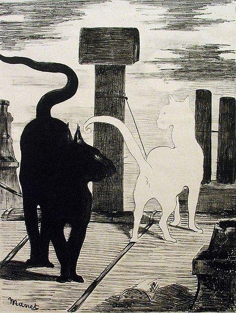 Rendez vous des chats 1868,  Édouard Manet, 1832-1883