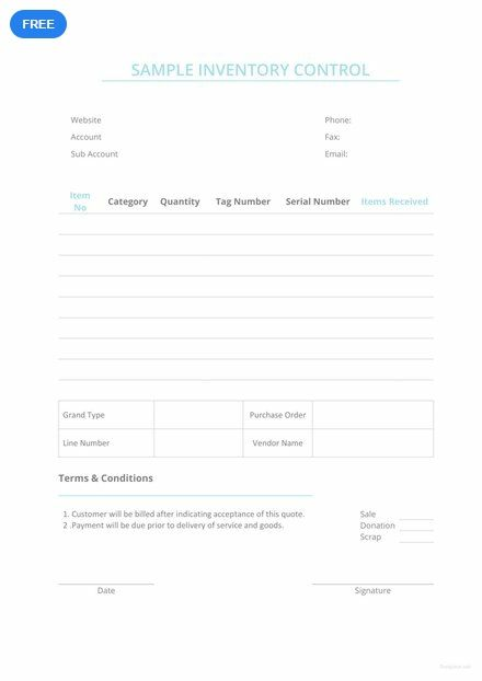 Free Sample Inventory Control Inventory Templates  Designs 2019