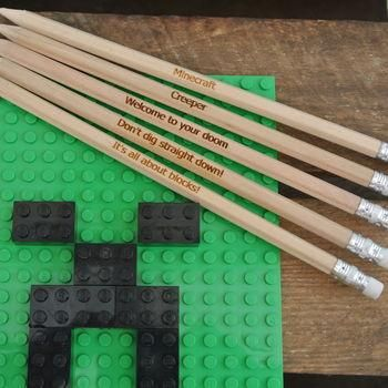 Perfect for school bags or party bags, these Minecraft inspired pencils are sure towin some wows...