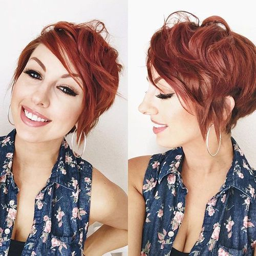 red messy pixie
