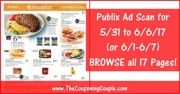Anybody want to BROWSE the actual upcoming Publix Ad Scan? Here is the PUBLIX AD SCAN FOR 5-31 to 6-6-17 (6/1-6/7) ~ ALL 17 PAGES Click the Picture below to BROWSE the Publix Ad Scan ► http://www.thecouponingcouple.com/publix-ad-scan-for-5-31-to-6-6-17/