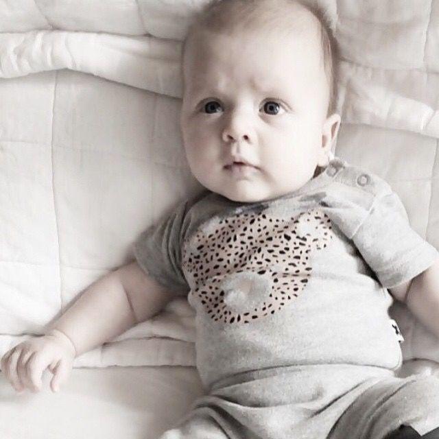 Designer Baby Fashion.   Too cute? We think so! Gorgeous Bear Onesie from Huxbaby  Blog — Yummy Mummy Pregnancy Day Spa
