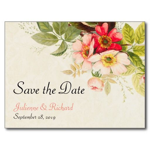 Vintage Bouquet | Floral Weding Save the Date