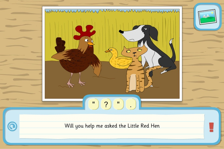 Punctuate the simple or complex sentences. A TES iboard interactive activity to add punctuation to sentences, based around scenes from a traditional tale.