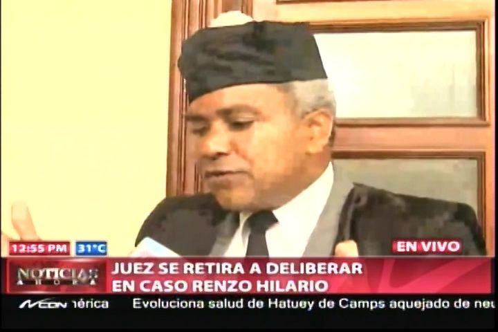 Juez Se Retira De Deliberar En Caso Renzo Hilario