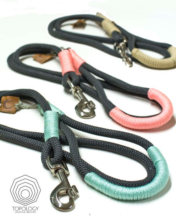 Rope dog leash. Chic Charcoal Gray climbing by TopologyHandmade