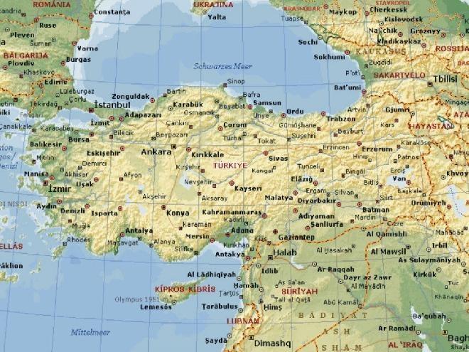 pin turkey map on - photo #45