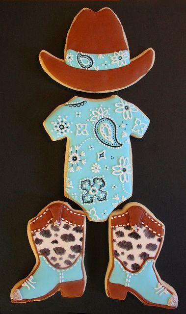 Cowboy Baby Shower Cookies