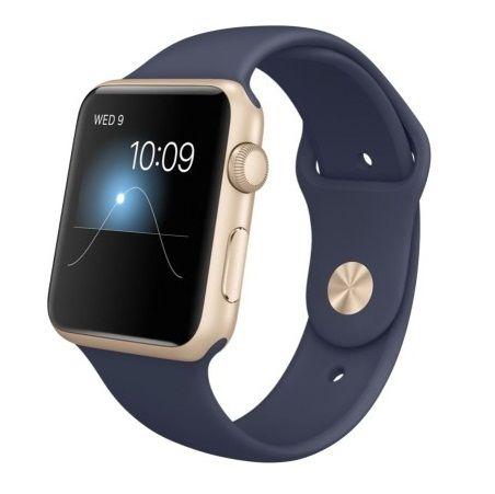 Apple Watch Sport 42 mm Gold Aluminium Case with Sport Band http://www.dealkishop.com/deals/apple-watch-sport-gold-aluminium-case-with-smartwatch-8-off/