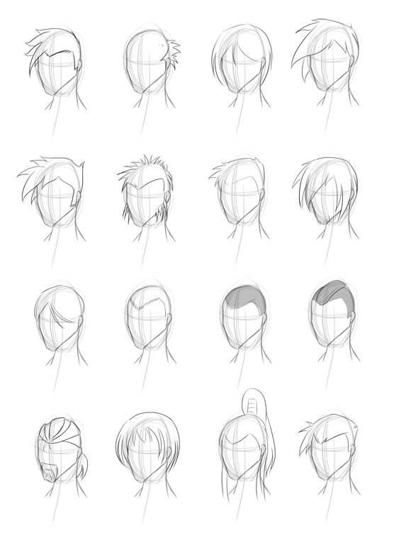 Male Hairstyle Practice By Obhan On Deviantart Drawing Pinterest
