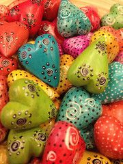 Mini Love Rocks     Beautifully hand carved and hand painted Kisii Stone Hearts from artisans of the Kisii region of Kenya. **Wedding Favor Idea