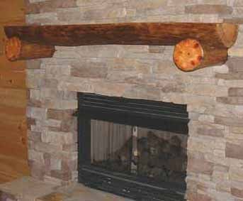 Half Log Mantle | FIREPLACE Mantels and Surrounds ...