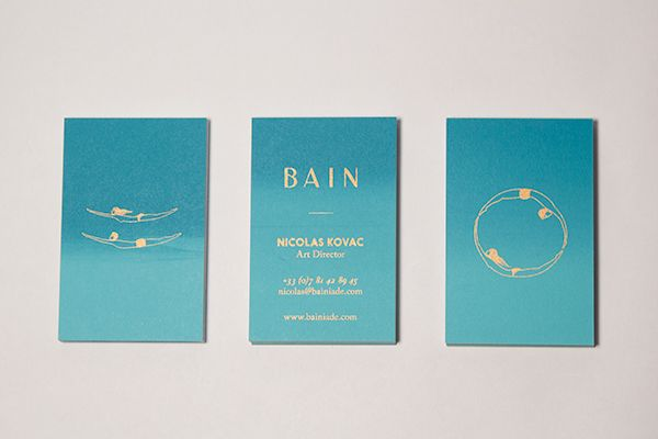 BAIN Silk Printed Business Cards on Behance