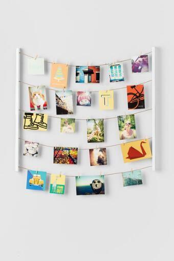 White Hang It Photo Display