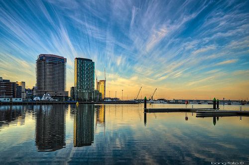 Melbourne Docklands Sunrise Photographer : https://www.facebook.com/pages/Bangphotography/129568883891794