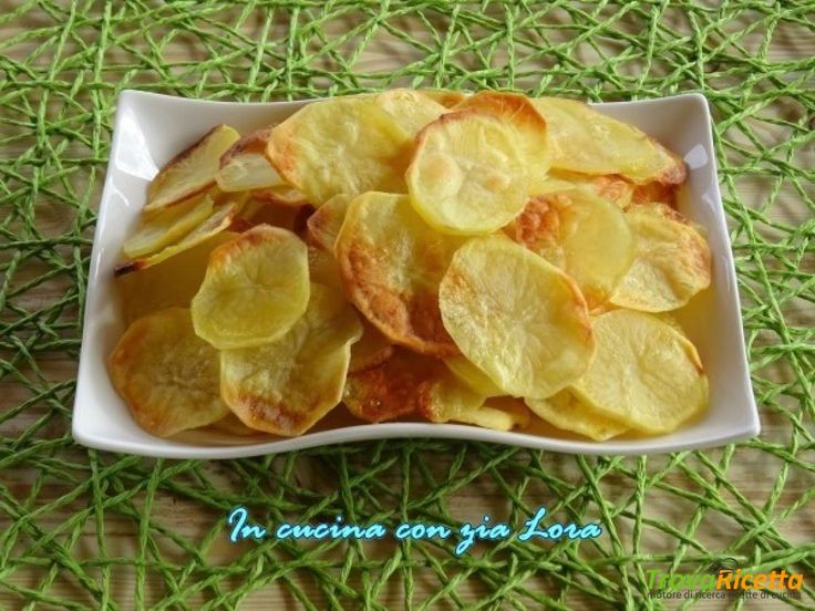 Patate chips al forno ricetta light  #ricette #food #recipes