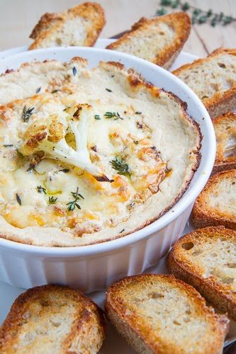 Roasted Cauliflower and Aged White Cheddar Dip