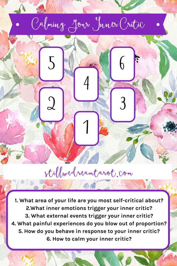 Calming Your Inner Critic Tarot Card Spread | Oracle Cards | Divination Layout