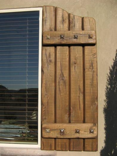 rustic shutters exterior | Rustic Shutters | Window Blinds