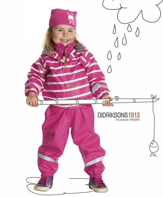 Rainwear from Didriksons #nettbutikk #barneklær #regntøy #barnogleker #sportmann