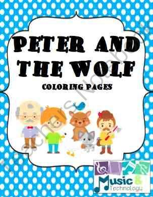 peter and the wolf coloring pages from music and technology on teachersnotebookcom - Peter Wolf Coloring Pages