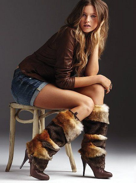 fur boots - I don't know what's style - I just know you Ladies ROCK THEM!! :D