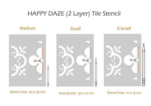 Happy Daze Marokkanische Fliesen Schablone–Möbel Boden Wand Craft Schablone, X Small A5: Amazon.de: Küche & Haushalt