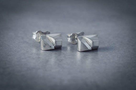 boucles d'oreilles en argent/poli miroir