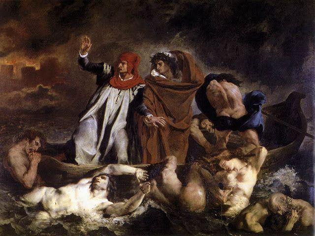 Δάντης και Βιργίλιος στην κόλαση ή Η βάρκα του Δάντη (1822)
