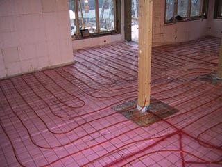 Infloor Heating Tubes In Basement Idea