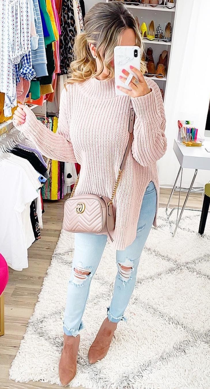 white turtleneck sweater #spring #outfits