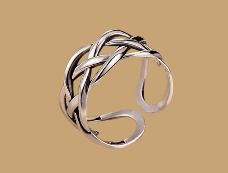 Excited to share the latest addition to our #etsy store: Women thumb ring Eternity sterling silver rings women Boho open adjustable Bohemian hippie gypsy finger cuff Infinity knot Gift for her