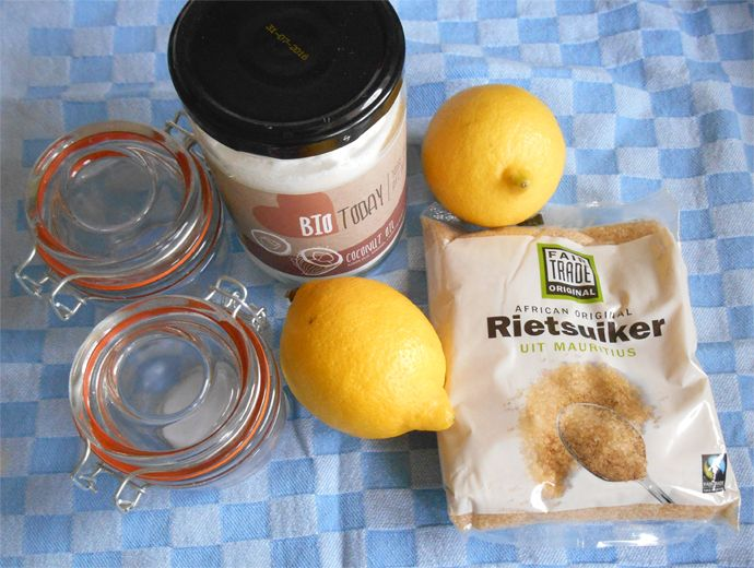 Kokos citroen body butter & scrub