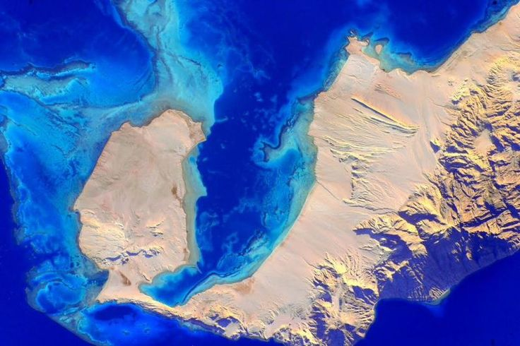 September 4, 2015: Names don't need to make sense: this very blue body of water is the Red Sea in Greek and the Green Space in Egyptian. Image credit: NASA/Scott Kelly