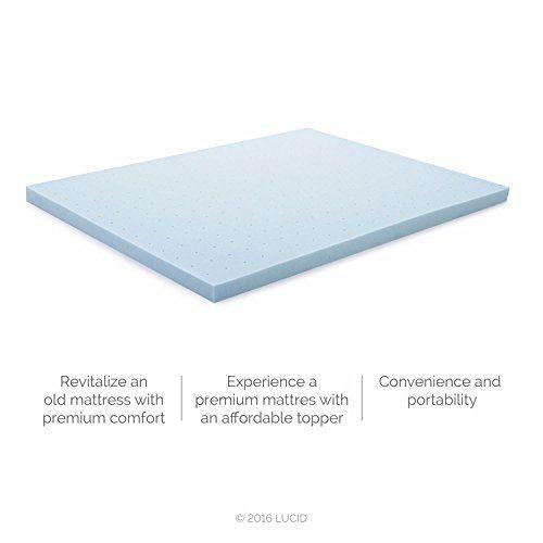 lucid 3inch gel memory foam mattress topper twin xl buy it