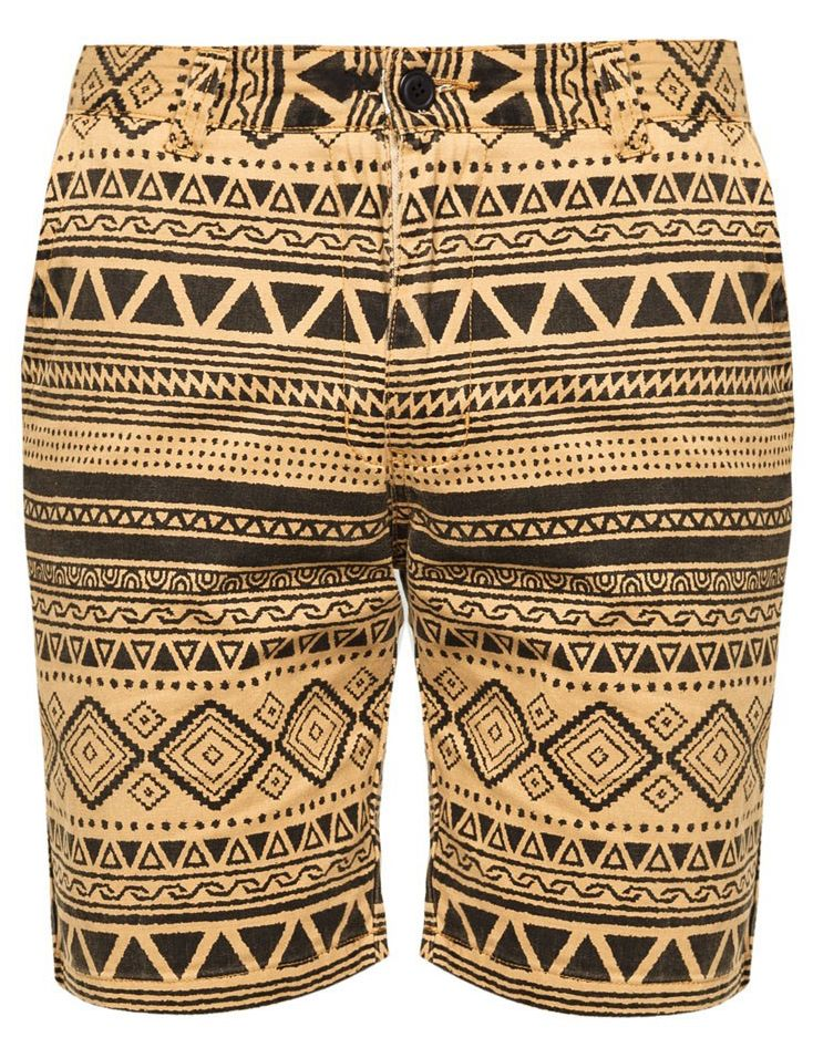 Cotton Twill Shorts With Overall Geo Print by 24:01 http://www.zocko.com/z/JGYvT