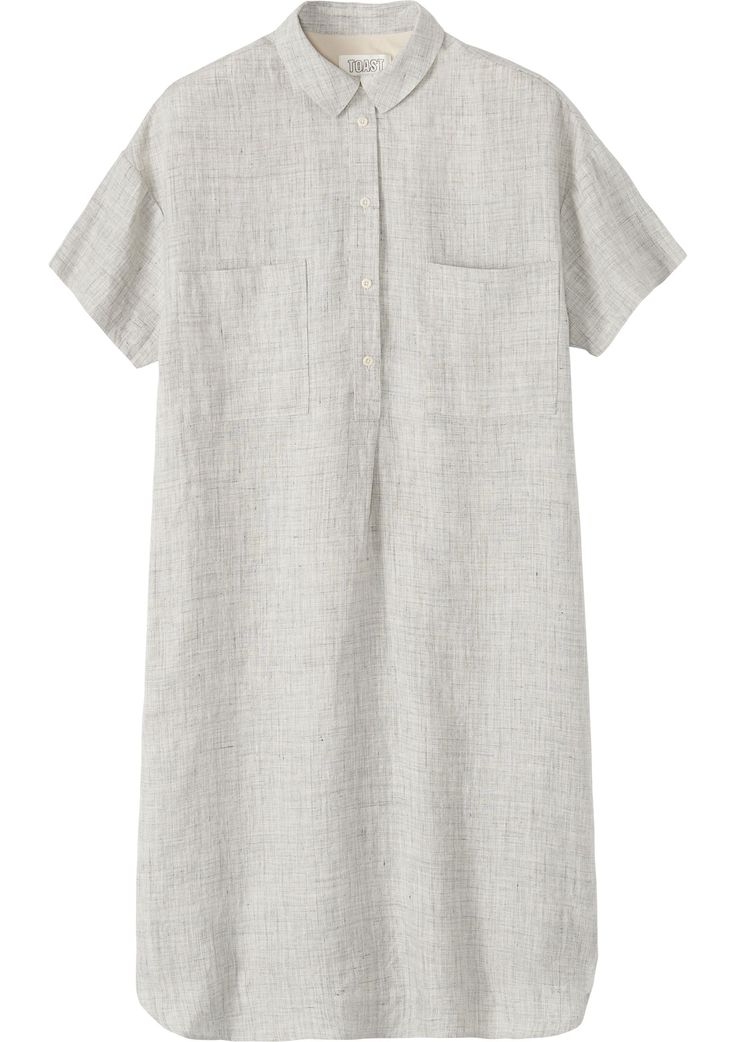 Women's Grey Linen Moriko Shirt Dress | Toast