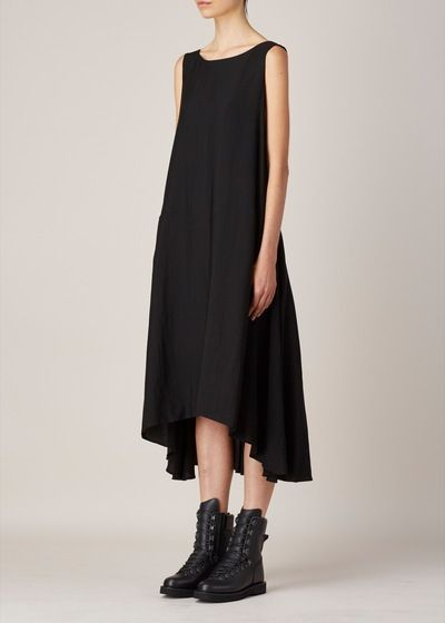 Y's by Yohji Yamamoto A-Line Dress (Black)                                                                                                                                                                                 Plus