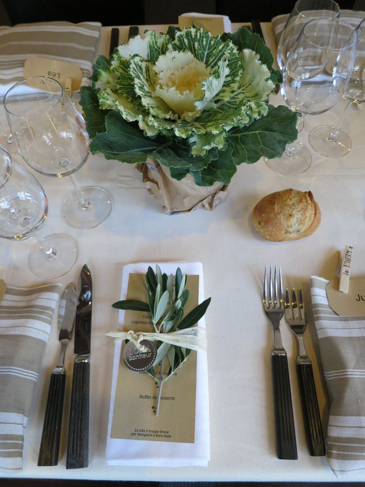 Details - use clothespin as seating names :) Sage, cabbage…..