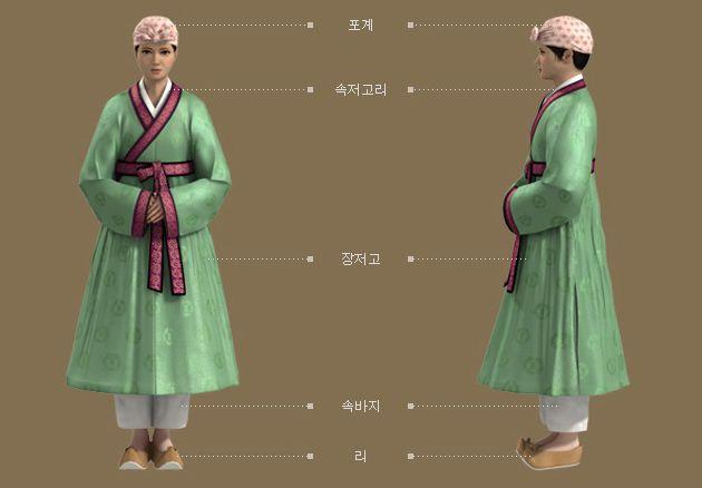 Goryeo Dynasty(AD918-1392) Korean traditional clothes #hanbok '아집도 대련(雅集圖 對聯)' 근거, 소녀 복식 - 문화콘텐츠닷컴