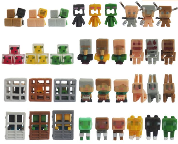36pcs/lot Minecraft More Characters Hanger Creeper Action Figure Toys //Price: $22.00 & FREE Shipping //     #games