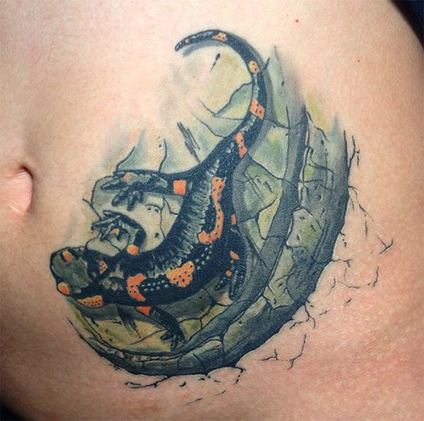 значение татуировки саламандра