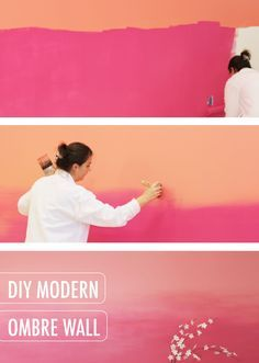 diy modern ombre wall