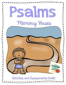 With these activities you can tap into different multiple intelligences. The activities in this pack are as follows: Bible Memory Verse Bible Memory Sort Bible Memory Game Read, Trace, and Draw Bible Memory Psalms Verses in this pack include: Psalm 100 Psalm 23 Psalm 121 Psalm 8 Psalm 24