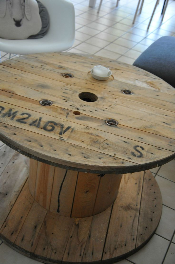 7 best images about id e d co avec un touret on pinterest for Table ronde style industriel